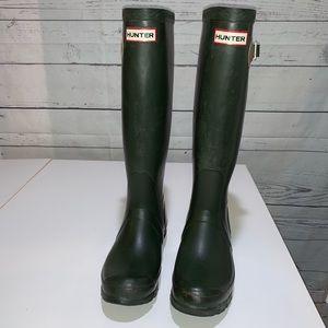 Rare Hunter Festival Boots in Green size 4